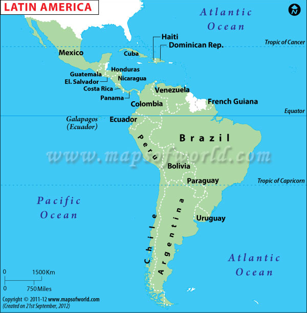 Map Of Countries In Latin America 41